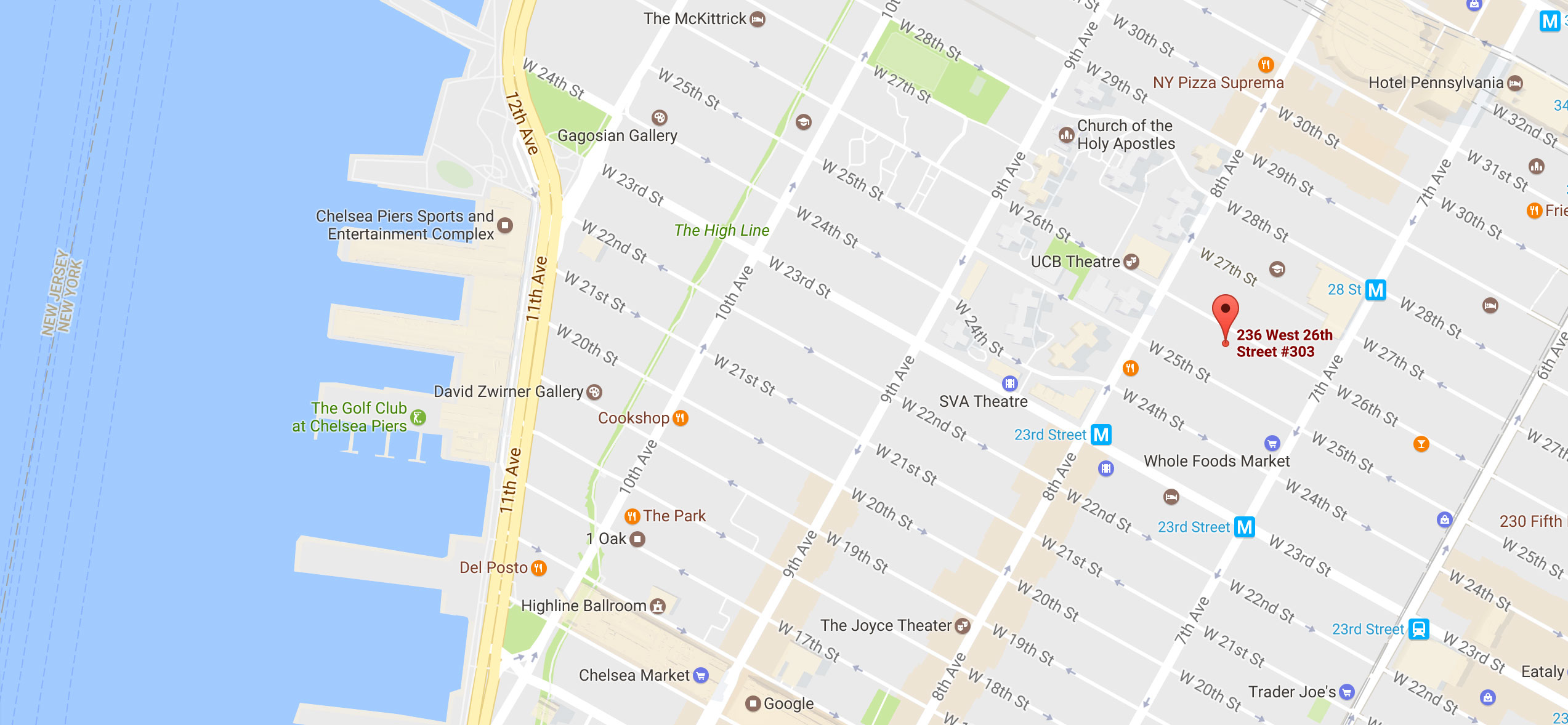 Map of 236 W. 26th St, New York, NY 10001